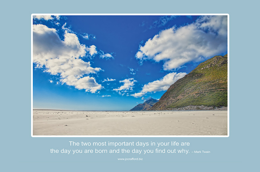Knysna-beach-Mark-Twain-Crafford-Productions-Life-two-most-important-days-of-your-life