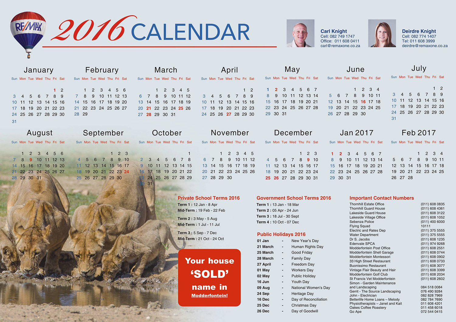 Crafford Productions Design Calendar for Remax